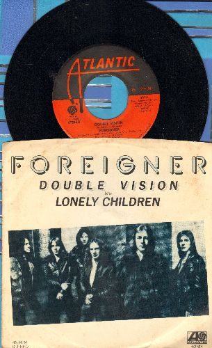 Foreigner - Double Vison/Lonley Children (with picture sleeve) - NM9/VG7 - 45 rpm Records