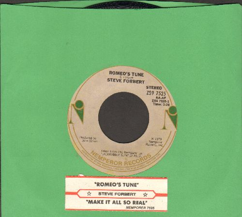 Forbert, Steve - Romeo's Tune/Make It All So Real (with juke box label) - NM9/ - 45 rpm Records