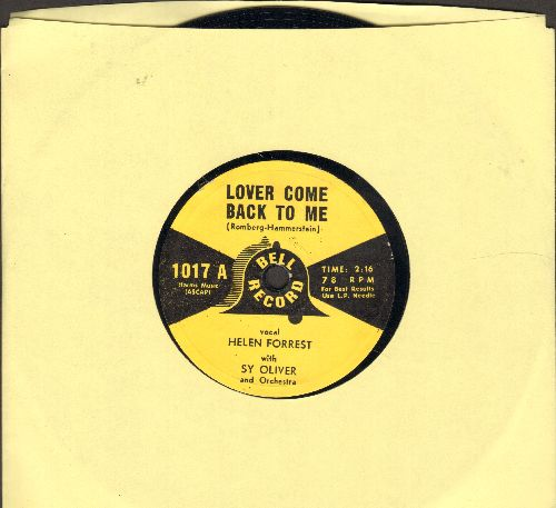 Forrest, Helen - Lover Come Back To Me/Changing Partners (7 inch 78rpm record, small spindle hole) - NM9/ - 78 rpm