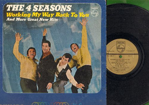 Four Seasons - Working My Way Back To You:  Can't Get Enough Of You Baby, Sundown, Everybody Knows My Name, Beggars Parade (viny MONO LP record, DJ advance pressing) - EX8/VG7 - LP Records