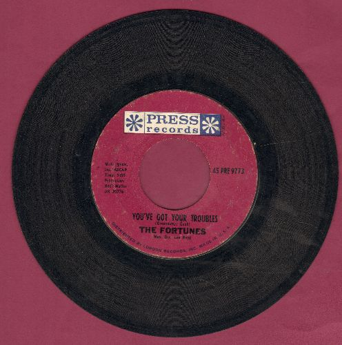 Fortunes - You've Got Your Troubles (I've Got Mine)/I've Gotta Go  - EX8/ - 45 rpm Records