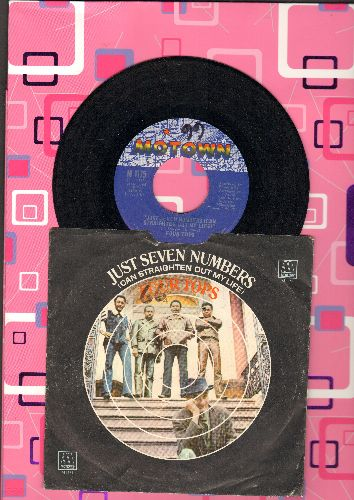 Four Tops - Just Seven Numbers (Can Straighten Out My Life)/I Wish I Were Your Mirror (with picture sleeve)(minor wol, wos) - EX8/VG7 - 45 rpm Records