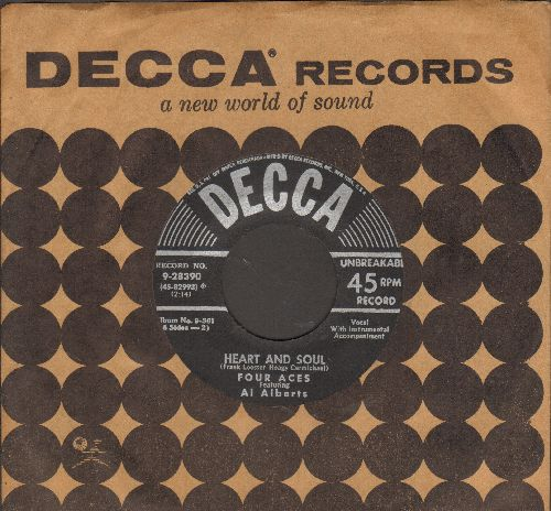Four Aces - Heart And Soul/Just Sqeeze Me (with vintage Decca company sleeve) - EX8/ - 45 rpm Records