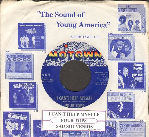 Four Tops - I Can't Help Myself/Sad Souvenirs (withjuke box label with Motown company sleeve) - NM9/ - 45 rpm Records