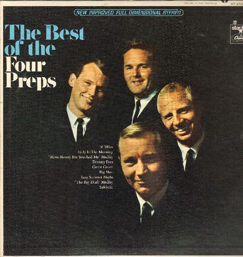 Four Preps - The Best Of: 26 Miles, Sukiyaki, Dreamy Eyes, More Money For You And Me (Vinyl STEREO LP record, re-issue of vintage recordings)(bb) - NM9/EX8 - LP Records
