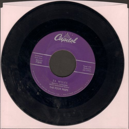 Four Preps - 26 Miles (Santa Catalina)/It's You (purple label first pressing) - VG6/ - 45 rpm Records