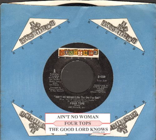 Four Tops - Ain't No Woman (Like The One I've Got)/The Good Lord Knows (with juke box label and company sleeve) - NM9/ - 45 rpm Records