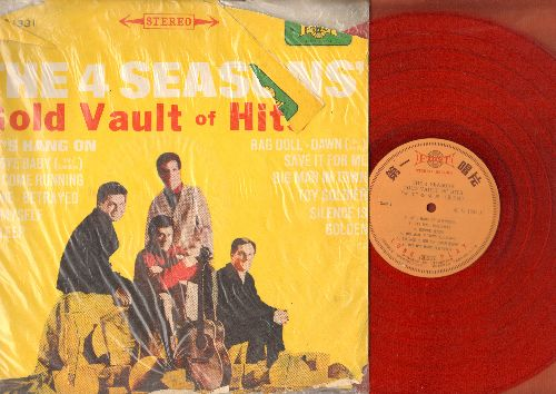 Four Seasons - Gold Vault of Hits: Let's Hang On, Bye Bye Baby, Ronnie, Rag Doll, Dawn (Go Away), Save It For Me, Toy Soldier, Silence Is Golden (Vinyl STEREO LP record, Japanese pressing) - EX8/G5 - LP Records