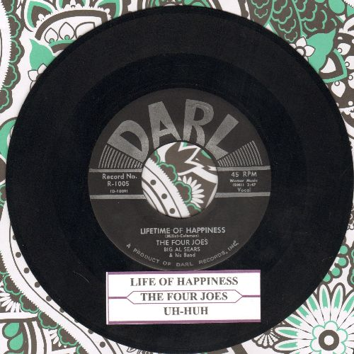 Four Joes - Uh-Huh/Life Of Happiness (with juke box label) - NM9/ - 45 rpm Records