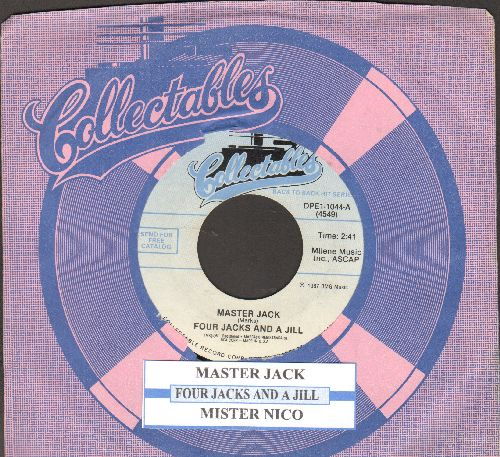 Four Jacks & A Jill - Master Jack/Mister Nico (double-hit re-issue with juke box label and company sleeve) - NM9/ - 45 rpm Records