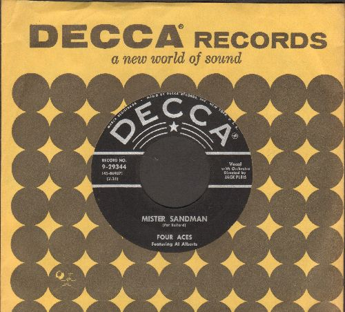 Four Aces - Mister Sandman/In Apple Blossom Time (with Decca company sleeve) - NM9/ - 45 rpm Records