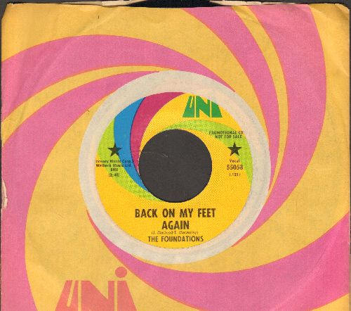 Foundations - Back On My Feet Again/I Can Take Or Leave Your Loving (DJ advance pressing with Uni company sleeve) - NM9/ - 45 rpm Records