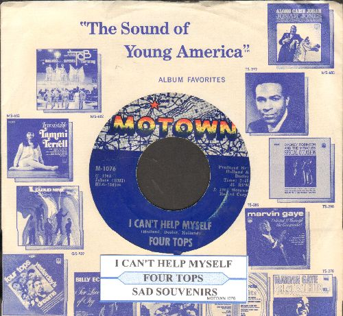 Four Tops - I Can't Help Myself/Sad Souvenirs (with juke box label and Motown company sleeve) - VG7/ - 45 rpm Records