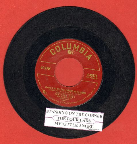 Four Lads - Standing On The Corner/My Little Angel (with juke box label) - NM9/ - 45 rpm Records