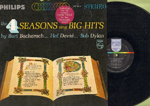 Four Seasons - The 4 Seasons Sing Big Hits By Burt Bacharach, Hal David, Bob Dylan: Like A Rolling Stone, What The World Needs Now Is Love, Blowin' In The Wind, What's New Pussycat? (Vinyl STEREO LP record) - NM9/NM9 - LP Records