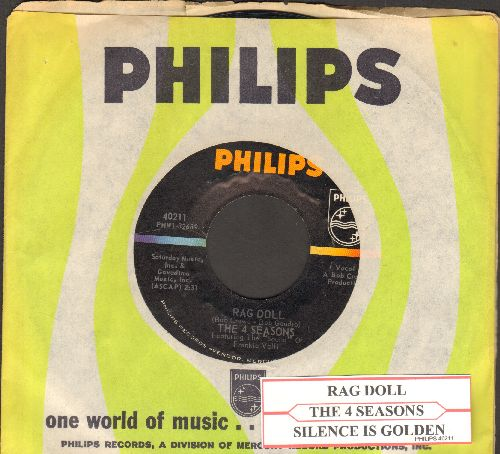 Four Seasons - Rag Doll/Silence Is Golden (with juke box label and Philips company sleeve) - NM9/ - 45 rpm Records