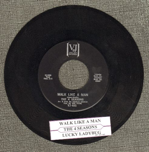 Four Seasons - Walk Like a Man/Lucky Ladybug (RARE black label pressing with juke box label) - NM9/ - 45 rpm Records