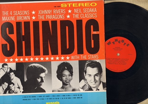 Rivers, Johnny, Maxine Brown, Paragons, Four Seasons, others - Shindig Vol. 2: Wedding Bells, You're The One, Harry Let's Marry, Real, Ring A Rock (Vinyl STEREO LP record) - EX8/EX8 - LP Records