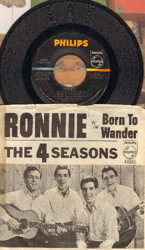 Four Seasons - Ronnie/Born To Wander (with picture sleeve) - NM9/VG6 - 45 rpm Records