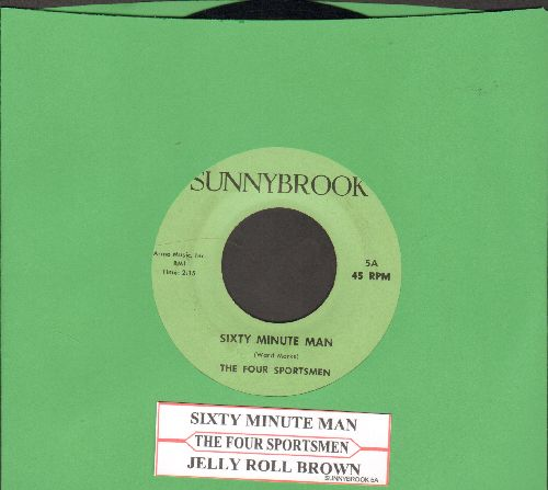Four Sportsmen - Sixty Minute Man/Jelly Roll Brown (with juke box label) - NM9/ - 45 rpm Records
