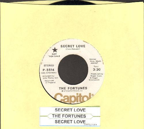Fortunes - Secret Love (double-A-sided DJ advance pressing with juke box label) - NM9/ - 45 rpm Records