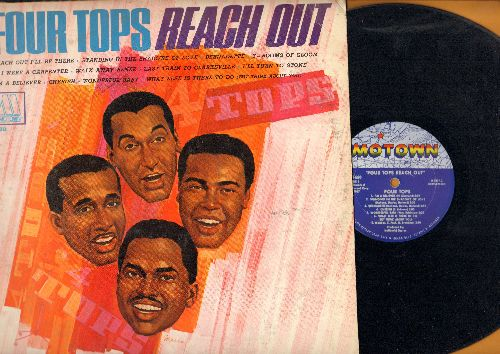 Four Tops - Reach Out: Bernadette, 7 Rooms Of Gloom, If I Were A Carpenter, Walk Away Renee, Last Train To Clarksville, I'm A Believer, Cherish (Vinyl MONO LP record) - EX8/EX8 - LP Records