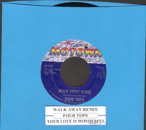 Four Tops - Walk Away Renee/Your Love Is Wonderful (with juke box label) (bb) - EX8/ - 45 rpm Records