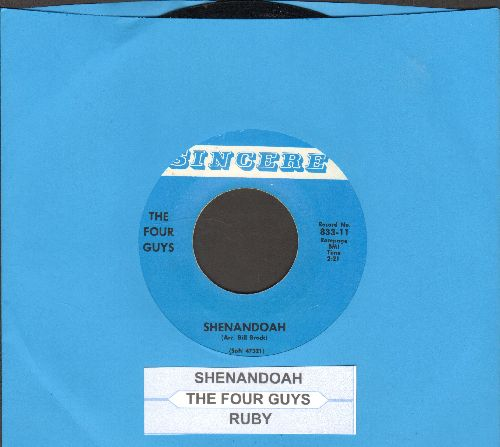 Four Guys - Shenandoah/Ruby (double-hit re-issue with juke box label) - EX8/ - 45 rpm Records