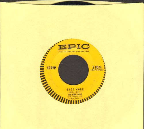 Four Coins - Once More/We'll Be Married (In The Church In The Wildwood) - EX8/ - 45 rpm Records