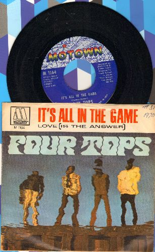 Four Tops - It's All In The Game/Love (Is The Answer) (with picture sleeve) - NM9/VG7 - 45 rpm Records