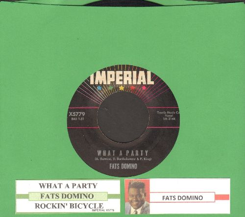 Domino, Fats - What A Party/Rockin' Bicycle (with juke box label) - EX8/ - 45 rpm Records