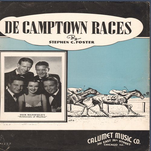 Foster, Stephen - De Camptown Races - Vintage SHEET MUSIC for the popular Stephen Foster song -  (This is SHEET MUSIC, not any other kind of media!) - EX8/ - Sheet Music