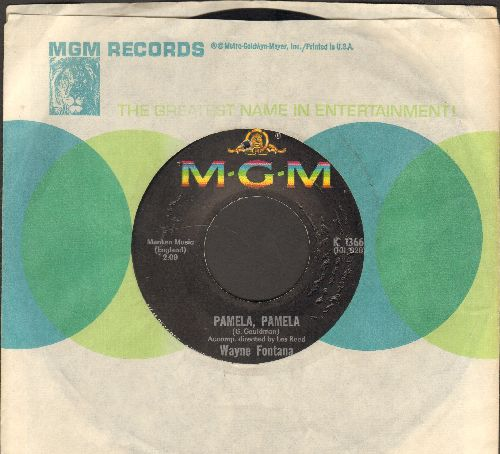 Fontana, Wayne - Pamela, Pamela/Something Keeps Calling Me Back (with MGM company sleeve)(bb) - EX8/ - 45 rpm Records