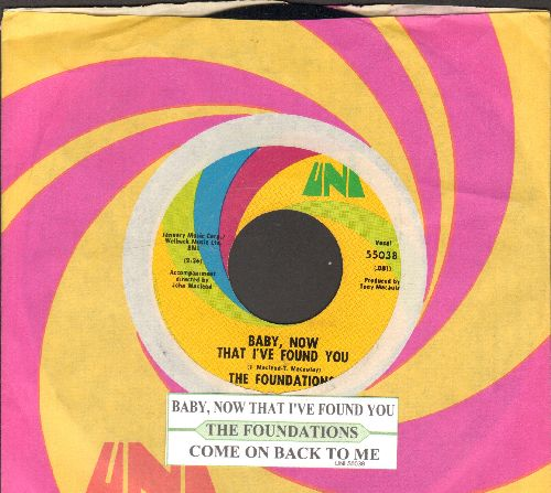 Foundations - Baby, Now That I've Found You/Come On Back To Me (with juke box label and UNI company sleeve) - NM9/ - 45 rpm Records