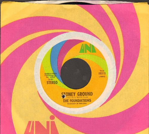 Foundations - Stoney Ground/I'll Give You Love (Uni company sleeve)(bb) - NM9/ - 45 rpm Records