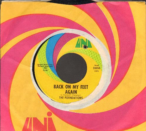 Foundations - Back On My Feet Again/I Can Take Or Leave Your Loving (with Uni company sleeve)(bb) - NM9/ - 45 rpm Records