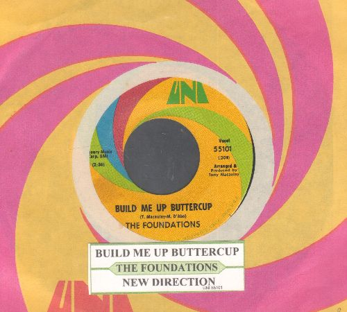 Foundations - Build Me Up Buttercup/Mew Direction (with juke box label and UNI company sleeve) - NM9/ - 45 rpm Records