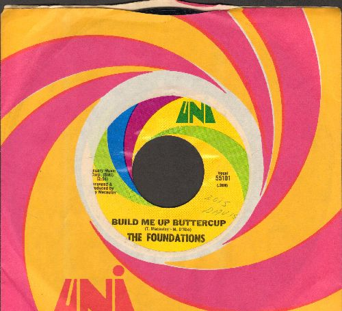 Foundations - Build Me Up Buttercup/New Direction (with Uni company sleeve, minor wol)) - VG7/ - 45 rpm Records