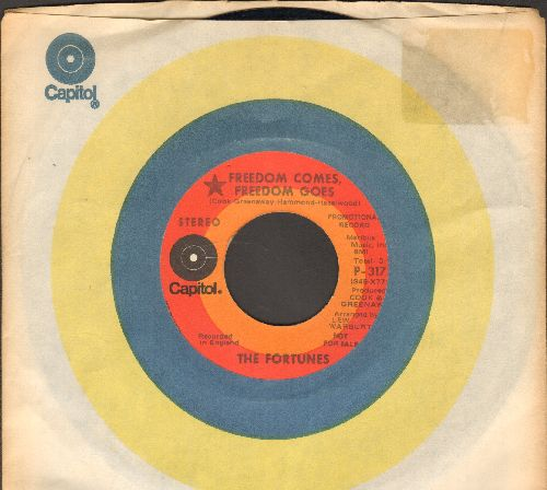 Fortunes - Freedom Comes, Freedom Goes (double-A-sided DJ advance pressing with Capitol company sleeve) - NM9/ - 45 rpm Records