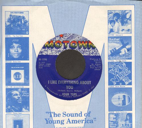 Four Tops - I Like Everything About You/Loving You Is Sweeter Than Ever (MINT condition with Motown company sleeve) - M10/ - 45 rpm Records