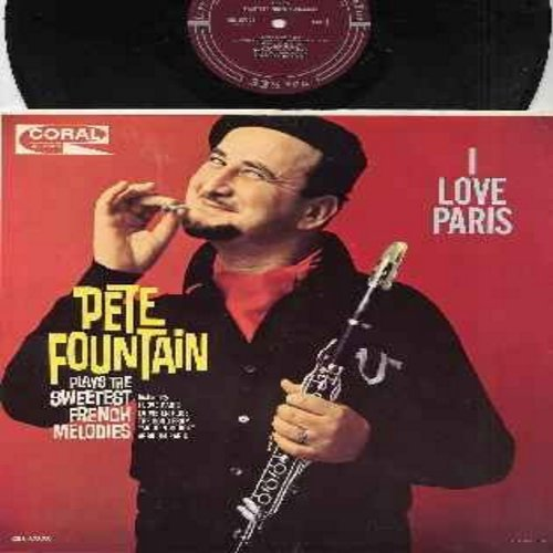 Fountain, Pete - I Love Paris: La Vie En Rose, Song From -Moulin Rouge-, C'est Si Bon, C'est Magnifique (Vinyl MONO LP record, burgundy label first issue, NICE condition!) - NM9/NM9 - LP Records