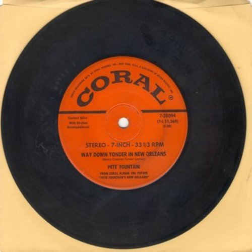 Fountain, Pete - Way Down Yonder In New Orleans/Tin Roof Blues (RARE 7 inch 33rpm record, small spindle hole) - EX8/ - 45 rpm Records