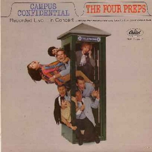 Four Preps - Campus Confidential: Princess Poo-Poo-Ly Has Plenty Papaya, They Call The Wind Maria, Lazy River, Goodnight Sweetheart (Vinyl LP record) - EX8/NM9 - LP Records