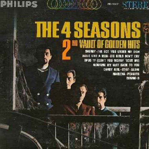 Four Seasons - 2nd Vault Of Golden Hits: Sherry, Walk Like A Man, Big Girls Don't Cry, Stay, Alone, Peanuts (Vinyl STEREO LP record) - EX8/VG7 - LP Records