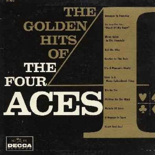 Four Aces - The Golden Hits: Love Is A Many-Splendored Thing, Heart And Soul, Stranger In Paradise, Three Coins In The Fountain, It's No Sin, Melody Of Love (Vinyl MONO LP record) - NM9/VG7 - LP Records