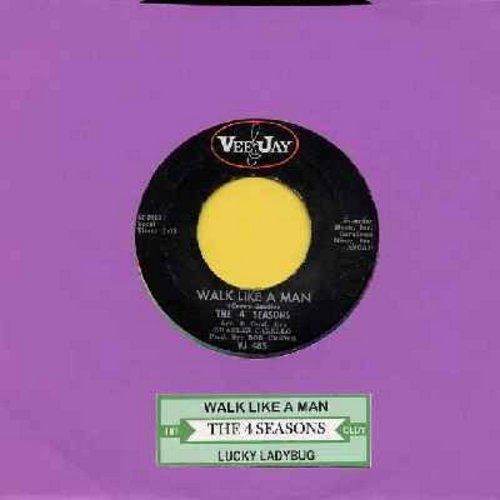 Four Seasons - Walk Like a Man/Lucky Ladybug (with juke box label) - VG7/ - 45 rpm Records