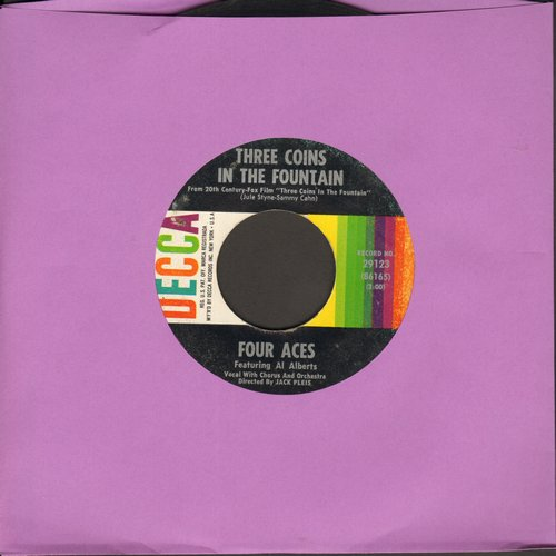 Four Aces - Three Coins In A Fountain/Wedding Bells - VG7/ - 45 rpm Records