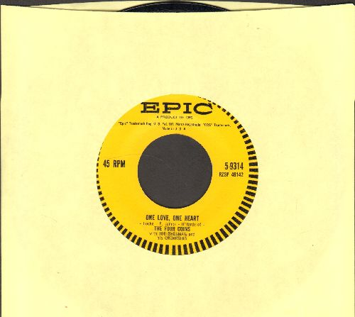 Four Coins - One Love, One Life/My First Love - NM9/ - 45 rpm Records