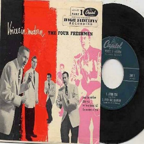 Four Freshmen - Over The Rainbow/After You/My Heart Stood Still/The Nearness Of You (Vinyl EP record with picture cover) - EX8/EX8 - 45 rpm Records