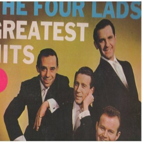 Four Lads - The Four Lad's Greatest Hits: The Mocking Bird, Standing On The Corner, Istanbul, The Bus Stop Song, Enchanted Island, No Not Much (Vinyl LP record, re-issue of vintage recordings) - M10/EX8 - LP Records